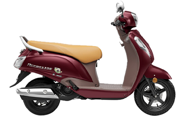 Suzuki Access 125 Special Edition Side View (Metalic Matte Bordeaux Red)