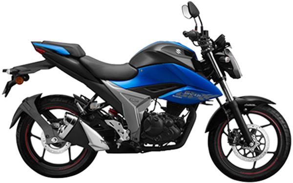 Suzuki Gixxer Side View (Metallic Triton Blue)