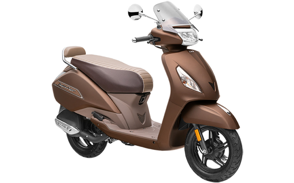 TVS Jupiter Classic Front Side View (Autumn Brown)