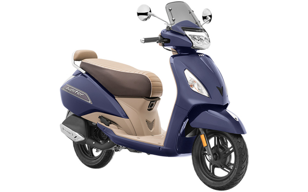 TVS Jupiter Classic Front Side View (Indiblue)