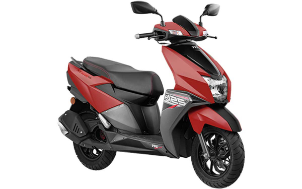 TVS Ntorq125 Front Side View (Matte Red)