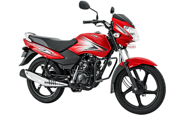 TVS Sport Front Side View (Volcano Red)