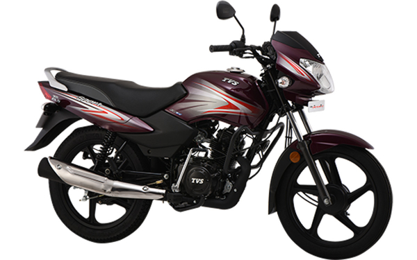 TVS Sport Front Side View (White Purple)
