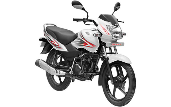 TVS Sport Front Side View (White Red)