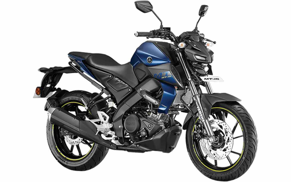 Yamaha MT-15 Front Side View (Dark Matt Blue)