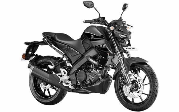 Yamaha MT-15 Front Side View (Metallic Black)