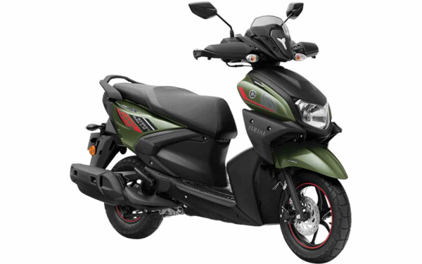 Yamaha Ray-ZR Street Rally Front Side View (Sparkle Green)