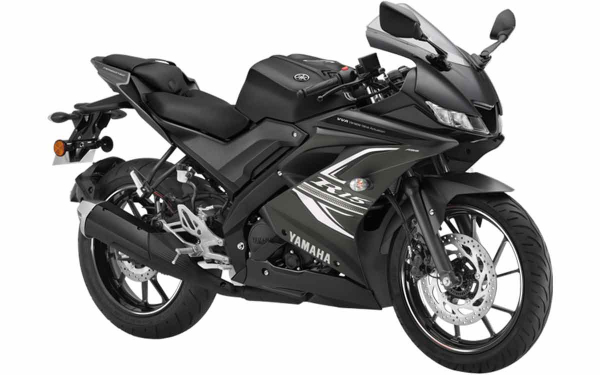 Yamaha YZF R15 Front Side View (Dark Knight)