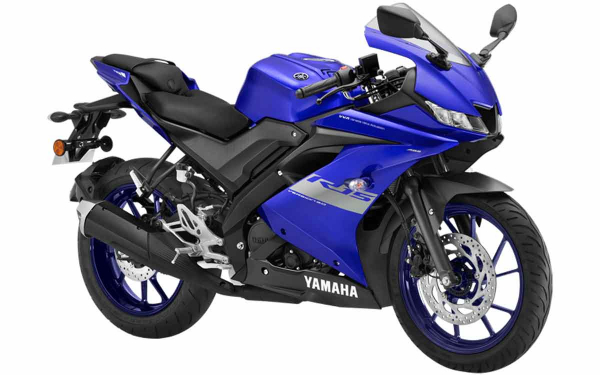 Yamaha YZF R15 Front Side View (Racing Blue)