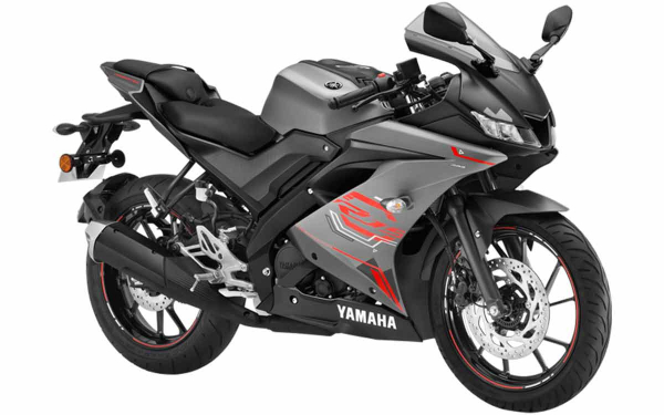 Yamaha YZF R15 Front Side View (Thunder Grey)