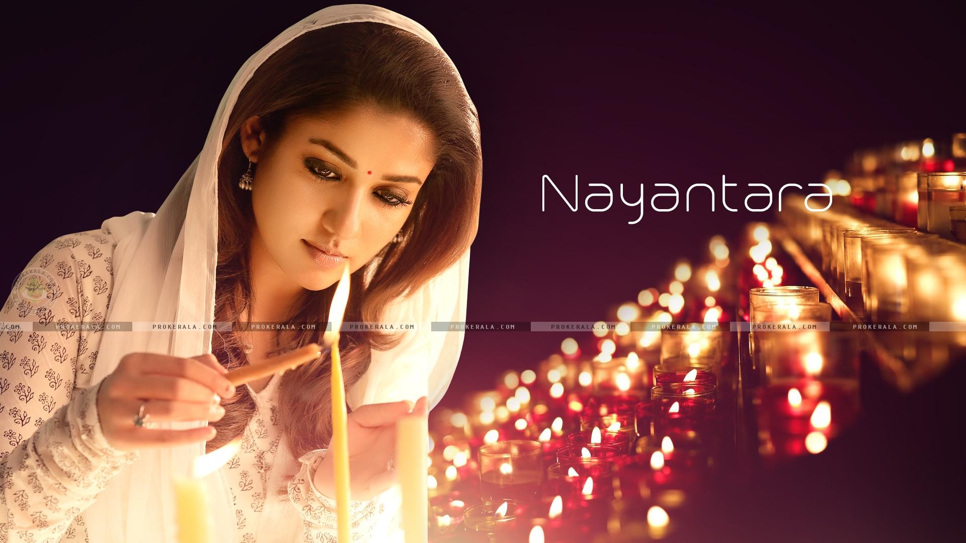Southindian Actress Nayantara New Movie Mass Wallpapers