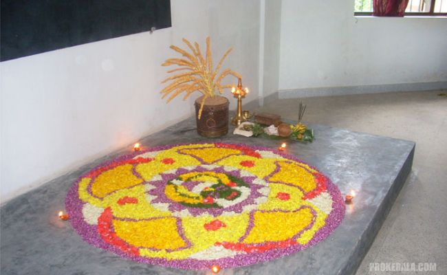 A traditional Floral Carpet or athapookalam