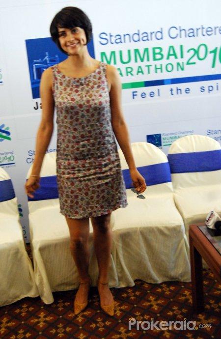 Gul Panag at Pasta Lunch by Rahul Bose at Mumbai Marathon 2010 at 16th Jan 2010 at Nariman Point Churchgate
