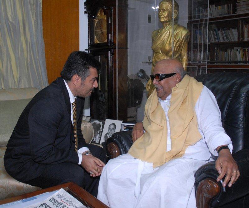 superstar rajnikanth with cm m karunanidhi
