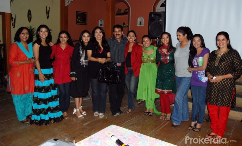 "Cast and Crew of Behnein at Press Conference of Serial ""Behnein"" on 8th Feb, 2010 at ..."