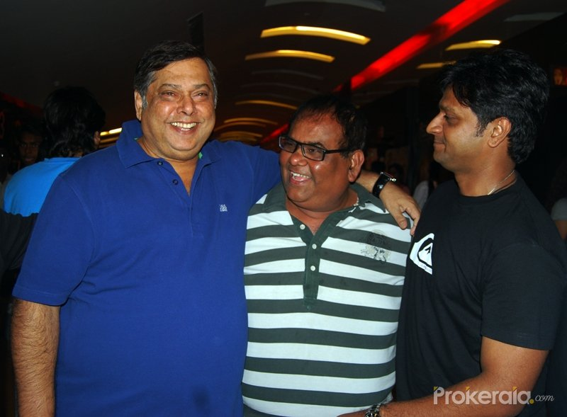david dhawan satish kaushik and director irfan kamal at the screening