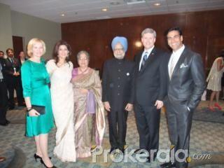 Photos :: Dr. Manmohan Singh, Stephen Harper and Akshay Kumar