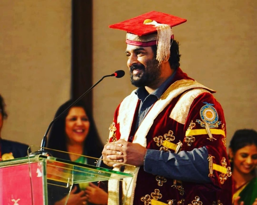Actor Ranganathan Madhavan is conferred with the degree of Doctor of Letters (D. Litt.) for his outstanding contribution to arts and cinema.