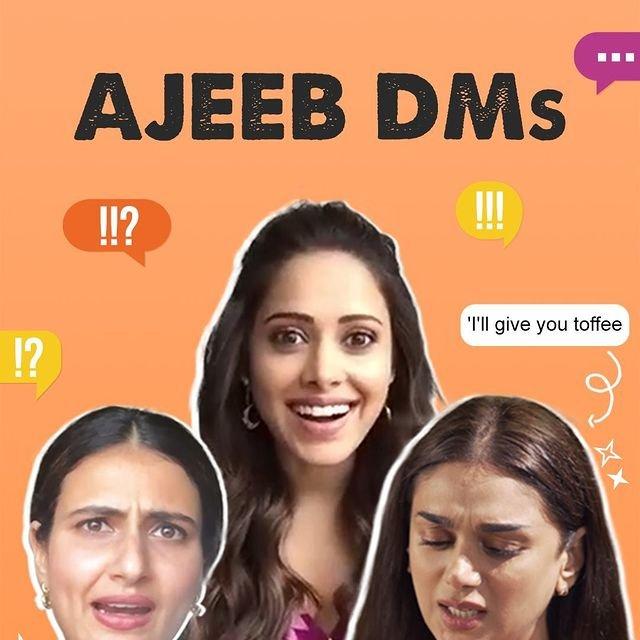 Aditi, Nushrratt, Fatima share 'ajeeb' DMs in a video