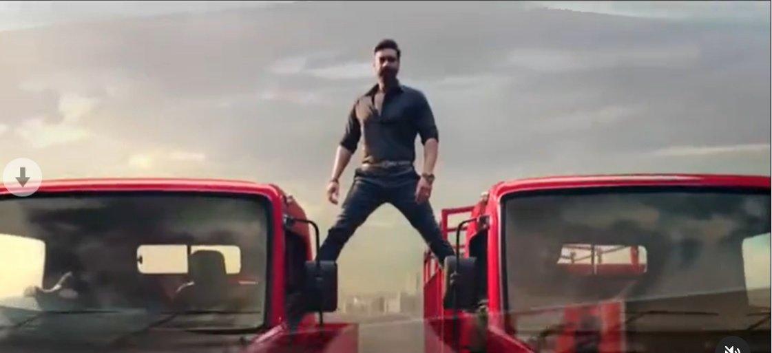 Ajay Devgn recreates Phool Aur Kaante stunt on 2 trucks