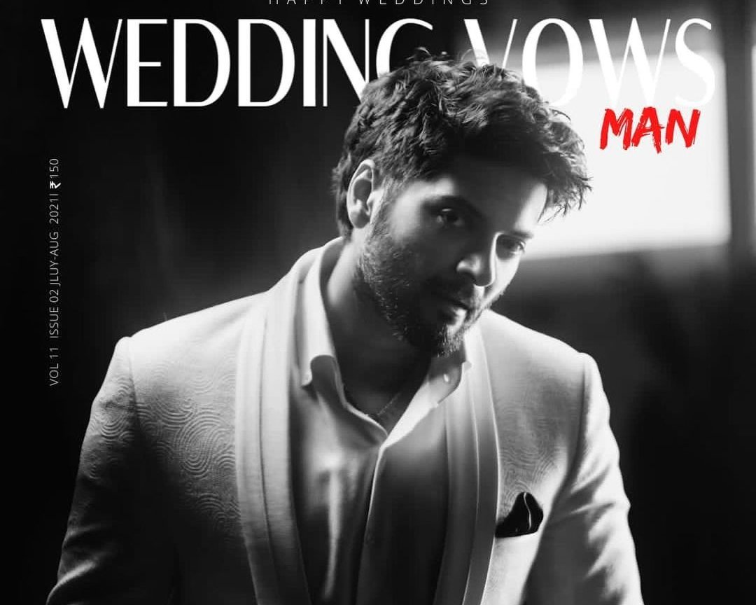 Ali Fazal on the cover page of 'Wedding Vows'
