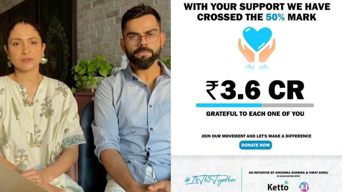 Anushka, Virat managed to generate ₹3.6 crore in a day for COVID relief