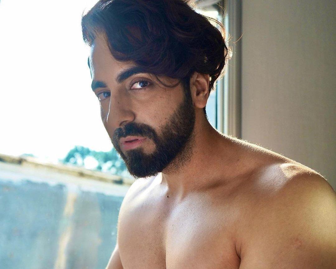 Ayushmann Khurrana goes shirtless as he pens a few intense lines
