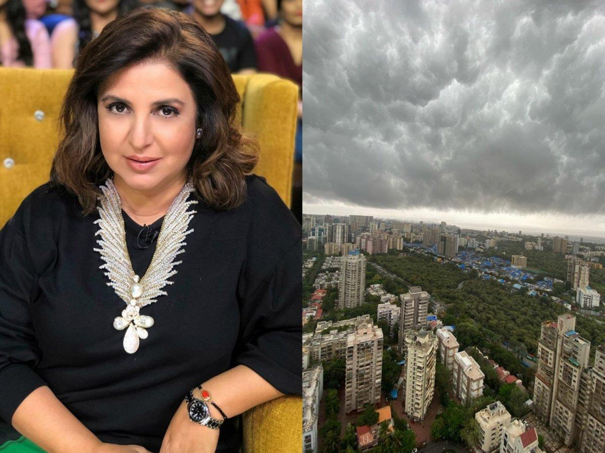 Farah Khan Kunder captured a mesmerising sky after the storm in Mumbai