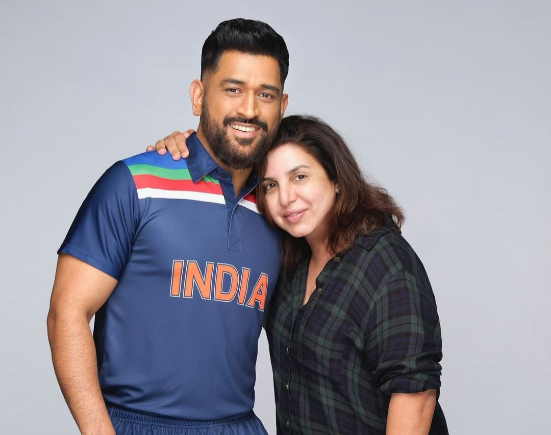 Farah Khan with MS Dhoni