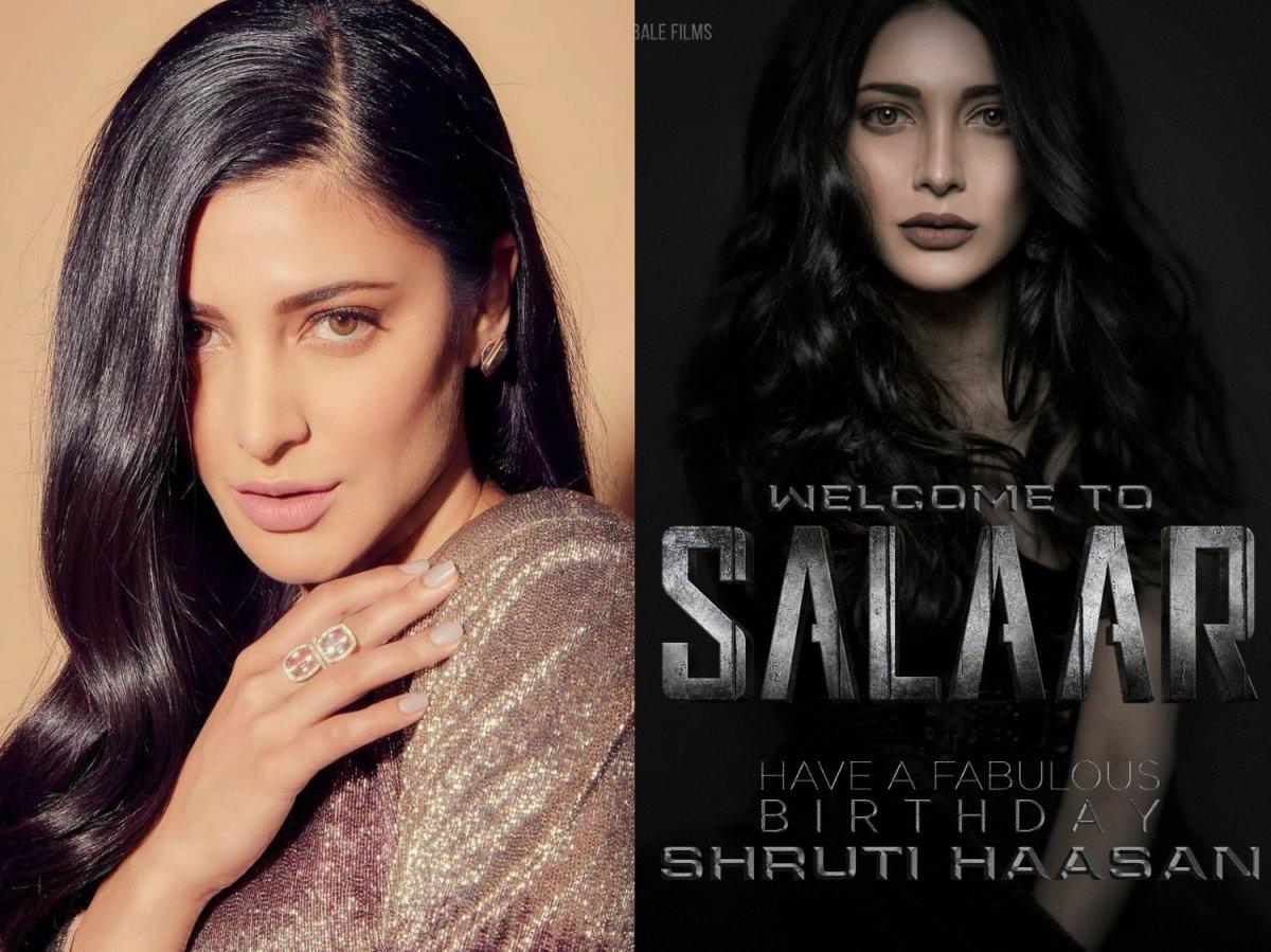 Happy birthday Shruti Haasan and welcome to team Salaar: Prabhasa