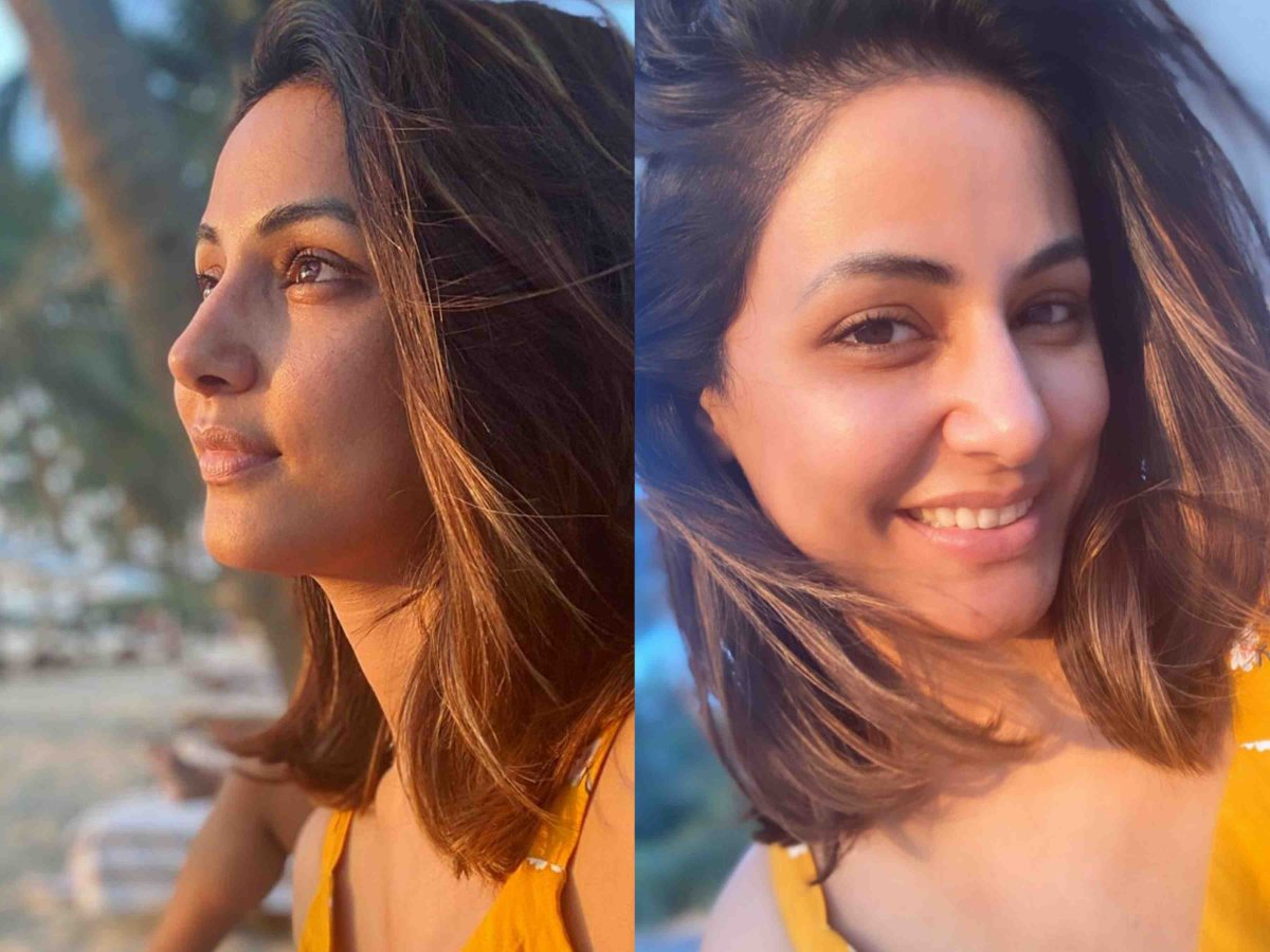 Hina Khan sun kissed pics