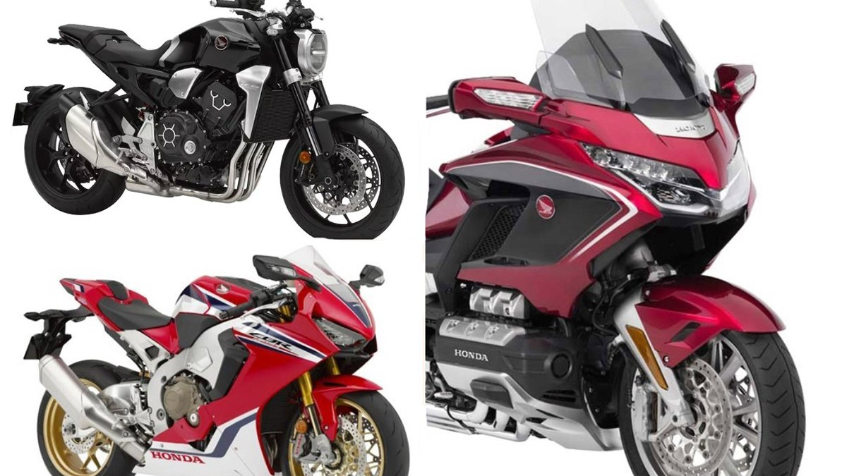 Honda CB1000R+, Gold Wing and CBR1000RR