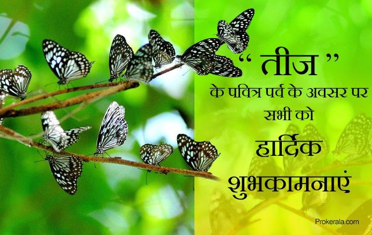 kajari teej greetings in hindi