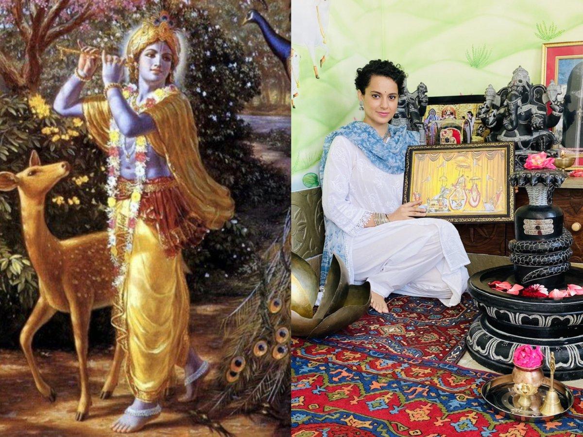 Kangana Ranaut celebrates Janmashtami