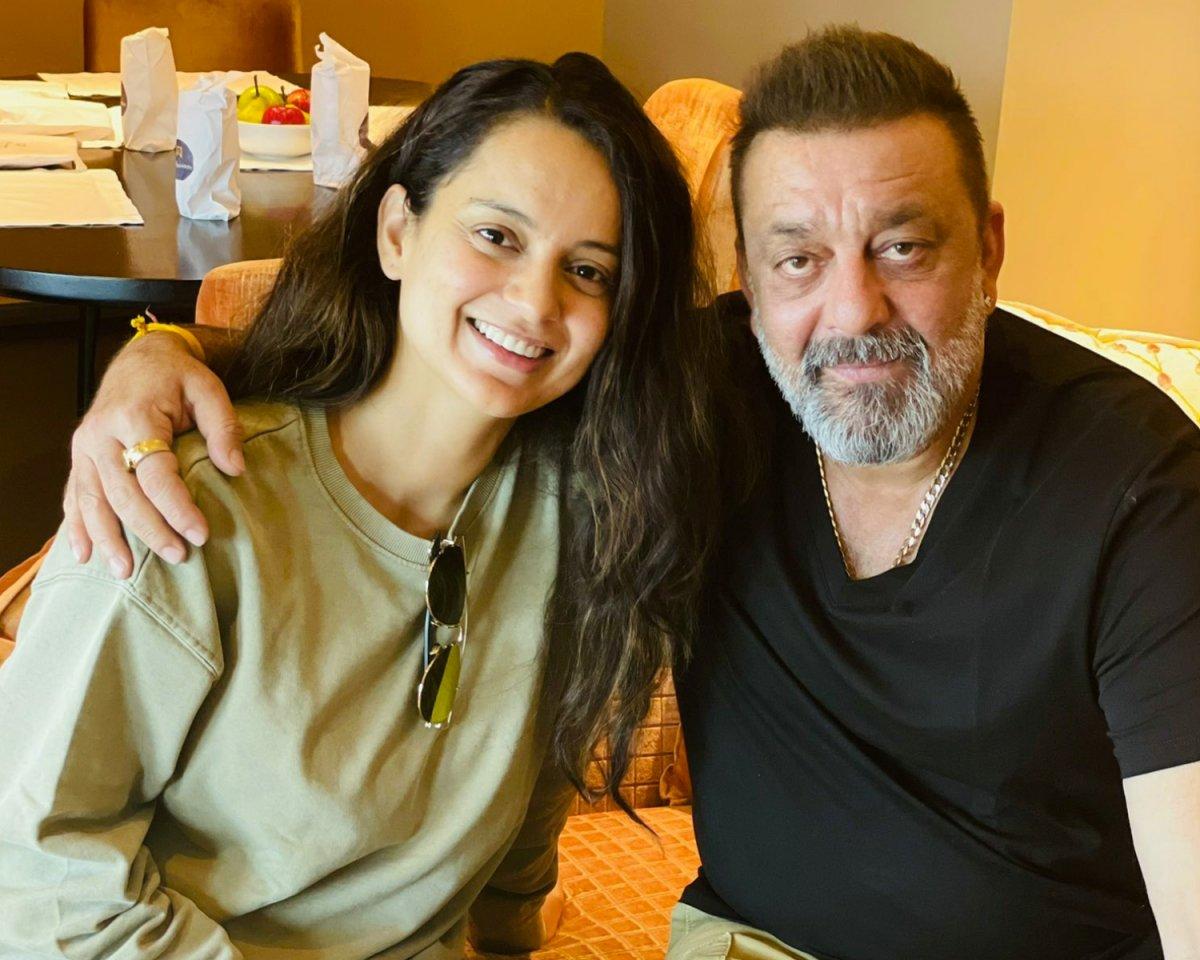 Kangana Ranaut met Sanjay Dutt in Hyderabad
