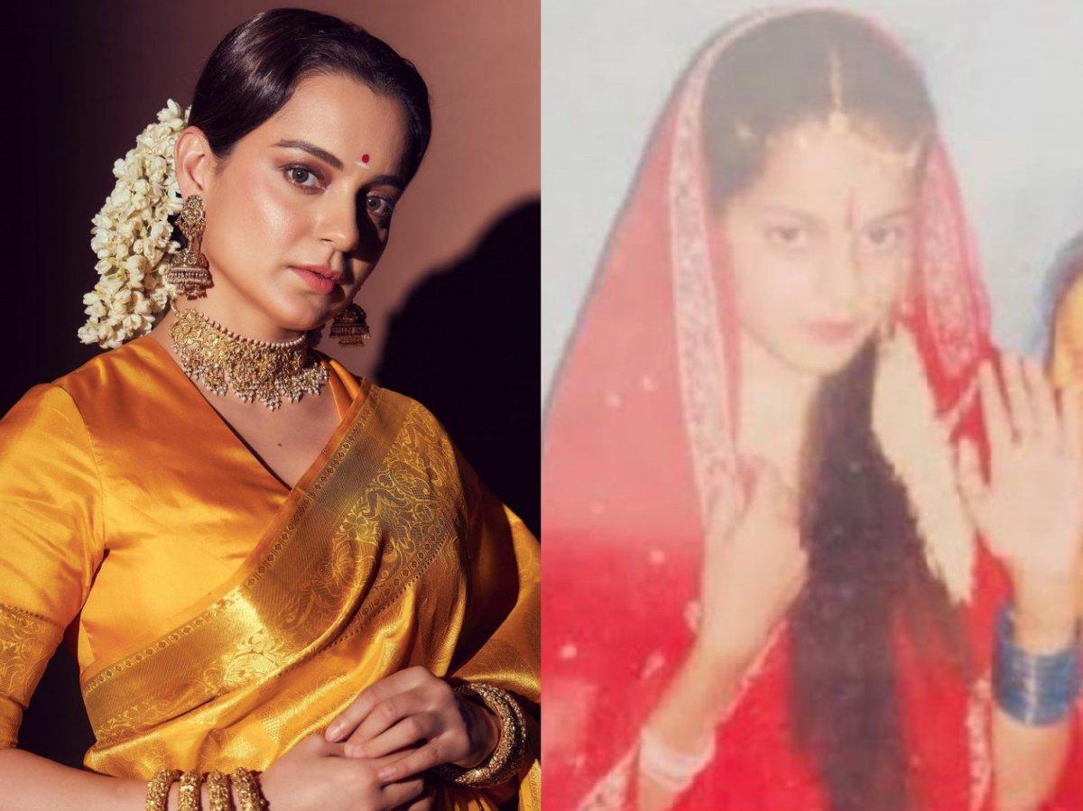Kangana Ranaut shares childhood photo when she played Sita in school