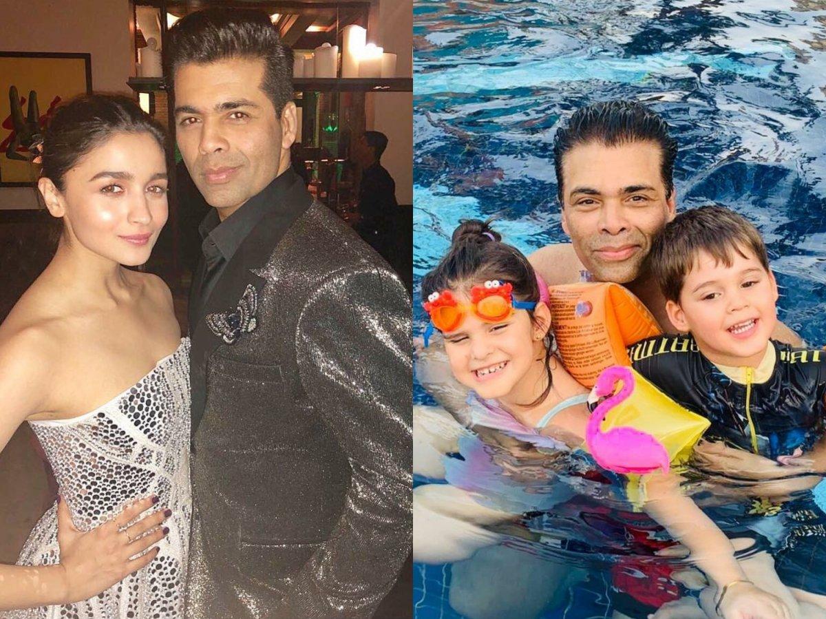 Karan Johar wishes Alia Bhatt, Roohi and Yash on Father's Day