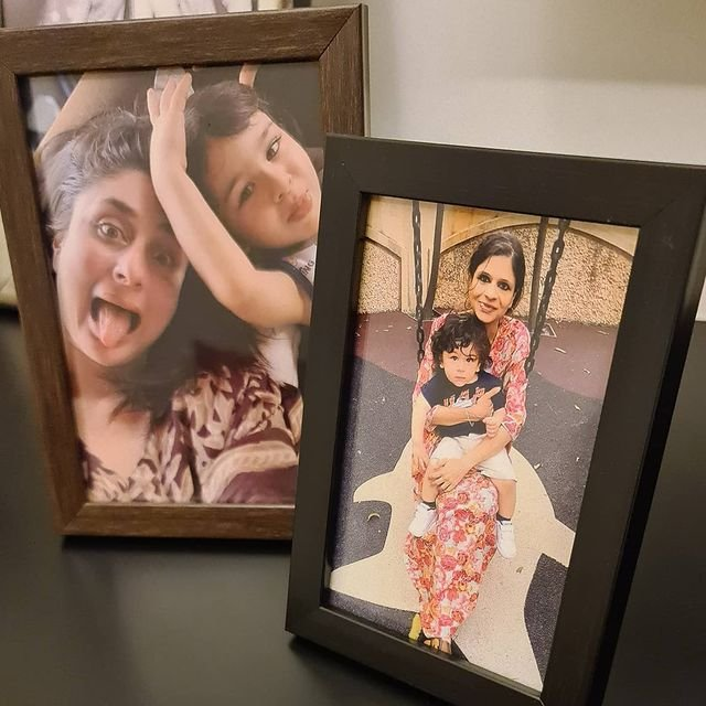 Kareena Kapoor and Taimur's photo gets framed in Bua Saba Ali Khan's house