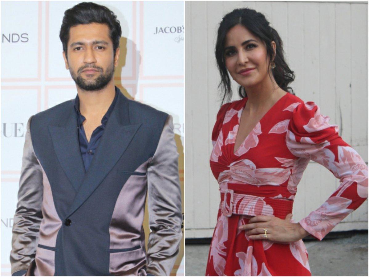 Actors Katrina Kaif and Vicky Kaushal