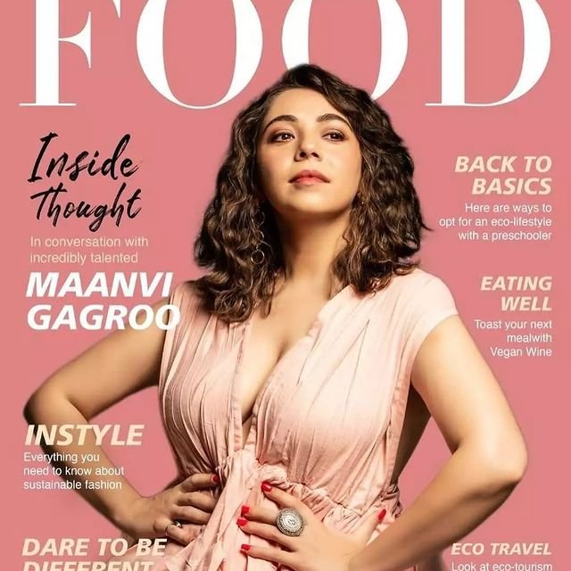 Maanvi Gagroo sizzles on the cover page of Lifestyle Food magazine