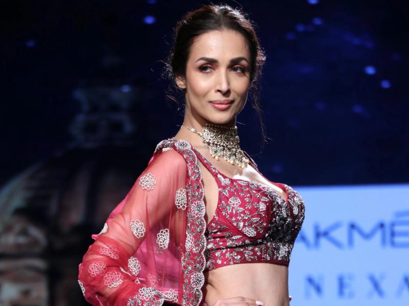 Malaika Arora walks for Varun Chakkilam at Lakme Fashion Week 2020