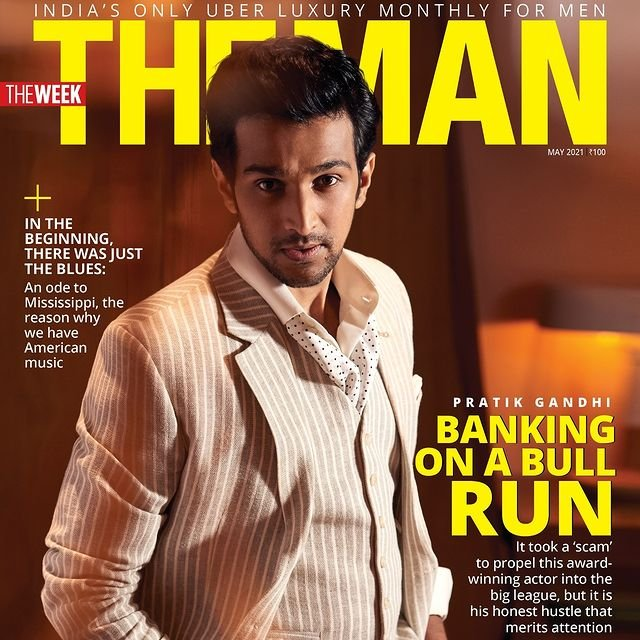 Pratik Gandhi sizzles on the cover page of 'The Man'