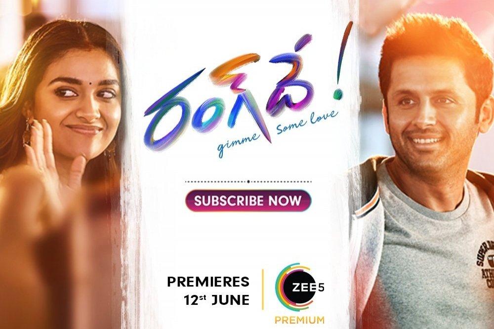 Rang De starring Keerthy Suresh and Nithiin to release on ZEE5