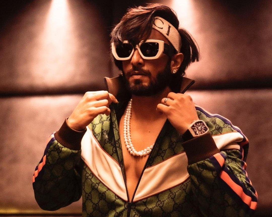 Ranveer Singh in his new Gucci tracksuit