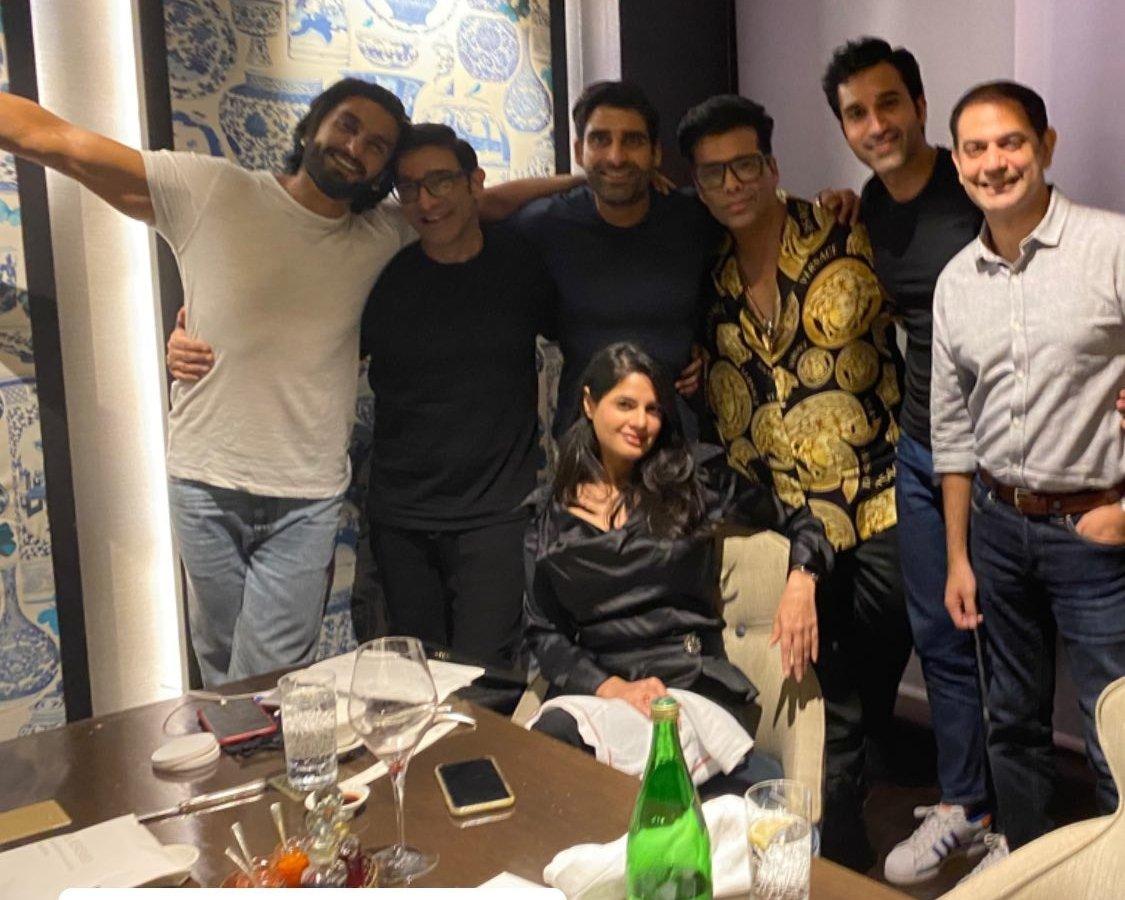 Ranveer Singh, Karan Johar have a 'fun night' in Delhi