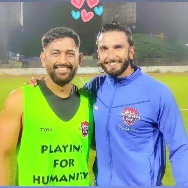Ranveer Singh, MS Dhoni play football for humanity