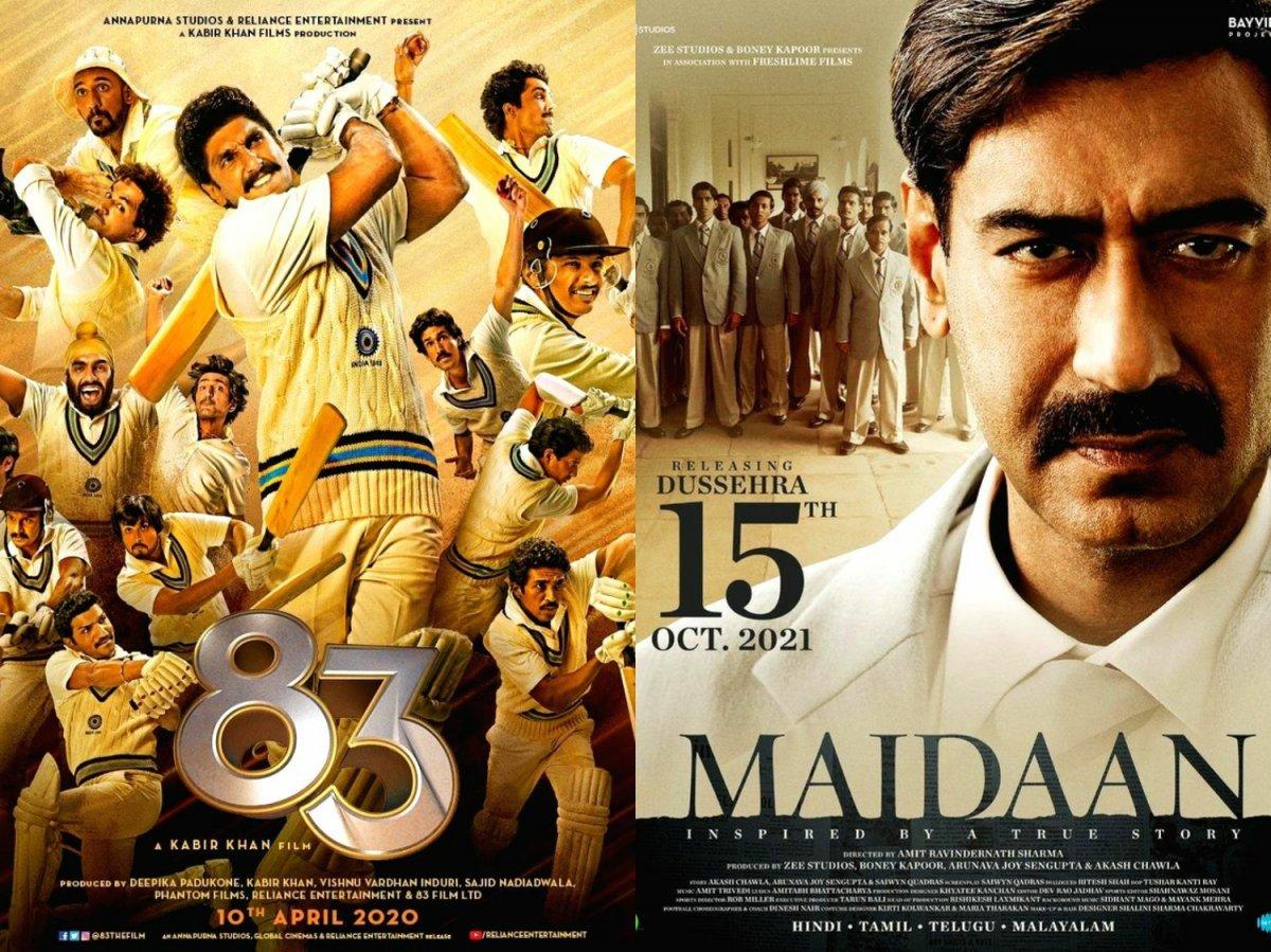 Ranveer Singh's '83 to Ajay Devgn's Maidaan: Upcoming sports movies in 2021