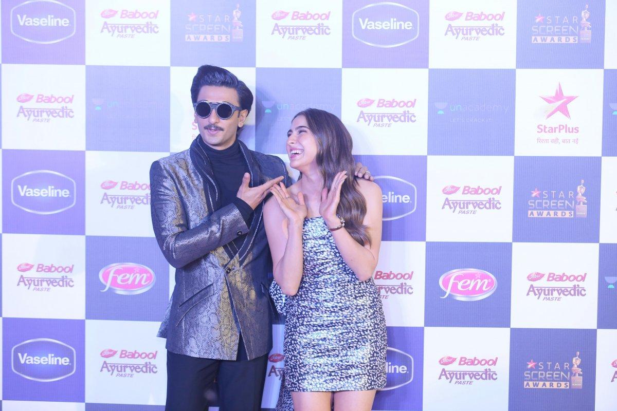 Ranveer Singh with Sara Ali Khan