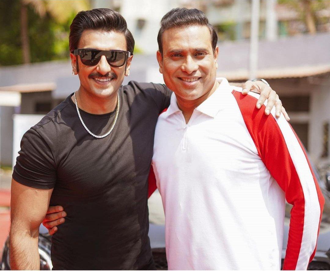 Ranveer Singh with VVS Laxman