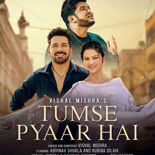 Rubina Dilaik and Abhinav Shukla's new song 'Tumse Pyaar Hai' poster